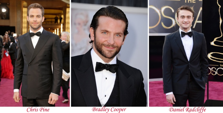 Chris Pine, Bradley Cooper, Daniel Radcliffe-montagem