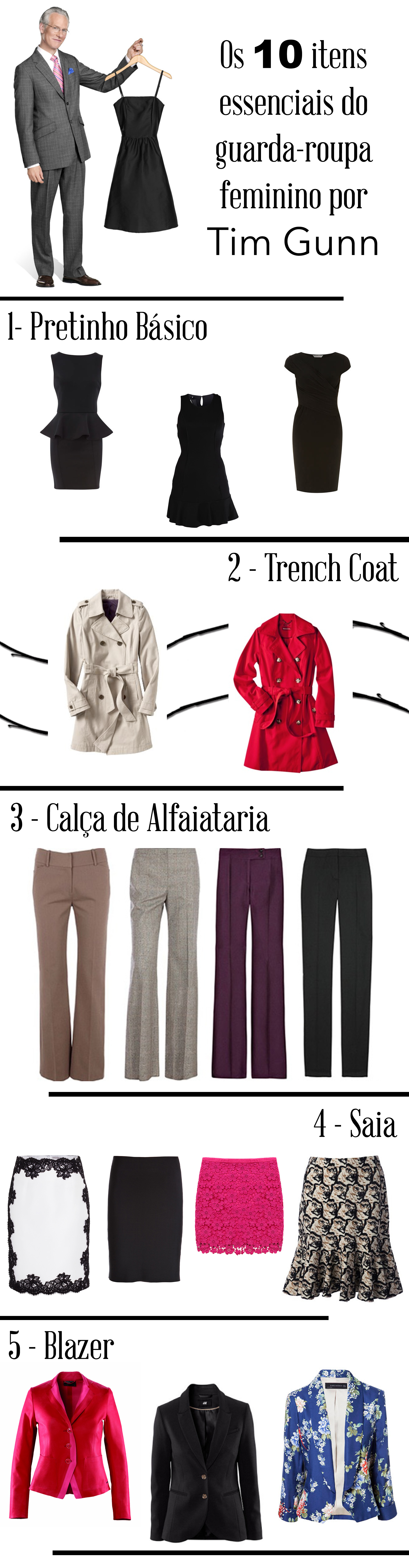 a58fc8f2b 10 Peças essenciais no guarda-roupa